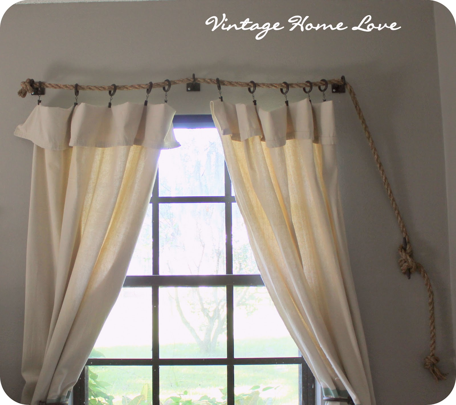 DIY Curtain Rods Rustic Crafts & Chic Decor