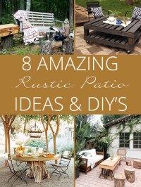 Eight Amazing Rustic Patio Ideas - Rustic Crafts & Chic Decor