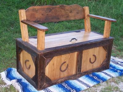 cowboy trunk bench seat