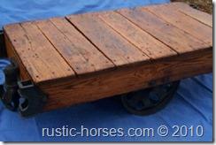 restored vintage factory cart