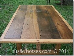 barn wood farm table 5×3 with border