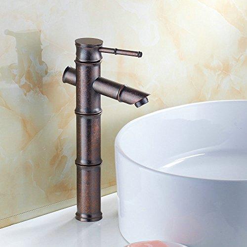 Hiendure Antique Copper Finish Bathroom Sink Faucet