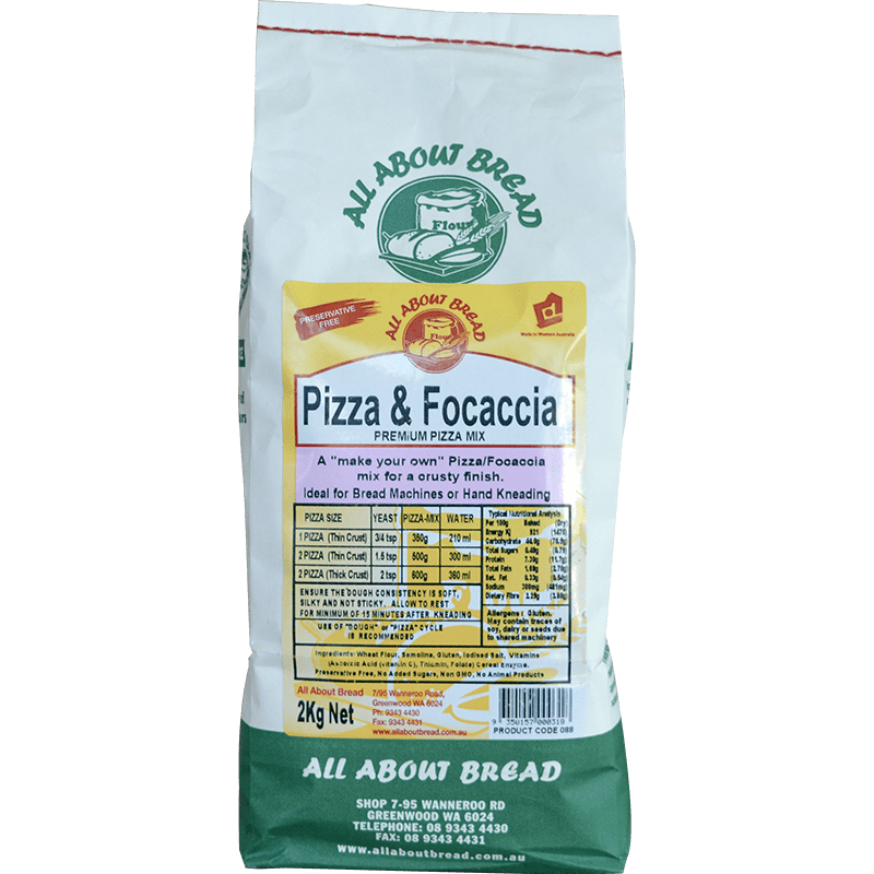 All About Bread Pizza and Focaccia Pizza Mix 2kg