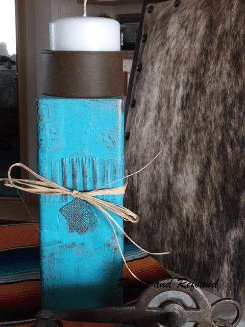 turqoise candle holder
