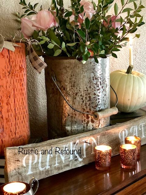 autumn style w-white pumkins