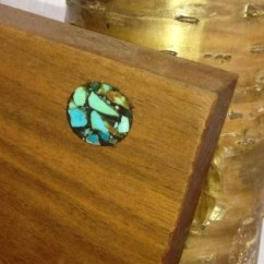 Cherry Furniture Living Room Curtains For A Turquoise Inlay Console Table - Rustic Artistry