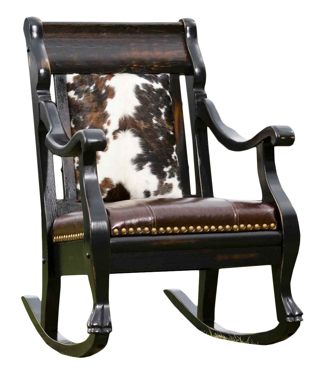 Cowhide and Leather Rocker  RusticArtistrycom  Rocking