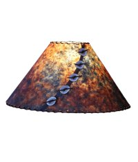 Blue and Rust Lamp Shade - Rustic Artistry