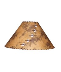Rust and Brown Lamp Shade - Rustic Artistry