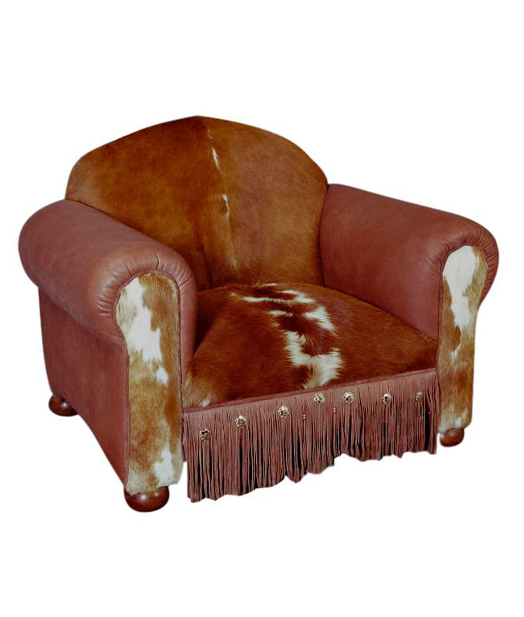 Cowhide and Leather Western Club Chair  RusticArtistrycom
