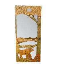 Carved Wood Screen Door | Moose by the Lake - Rustic Artistry