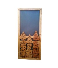 Carved Wood Screen Door | Pine Trees - Rustic Artistry