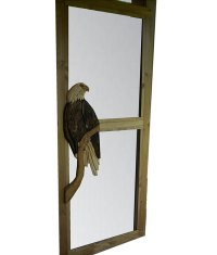 Carved Wood Screen Door | Regal Eagle - Rustic Artistry