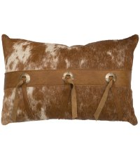 Cowhide Pillow with Ties - Rustic Artistry