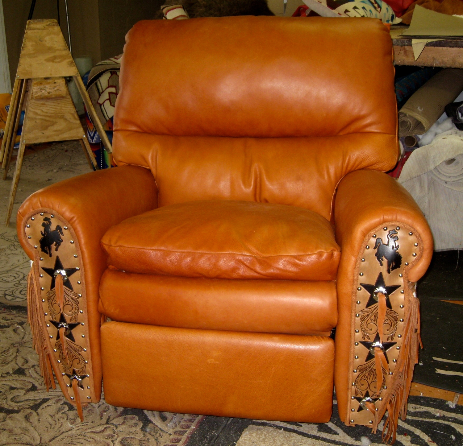 Western Chairs The Ultimate Recliner Leather And Cowhide