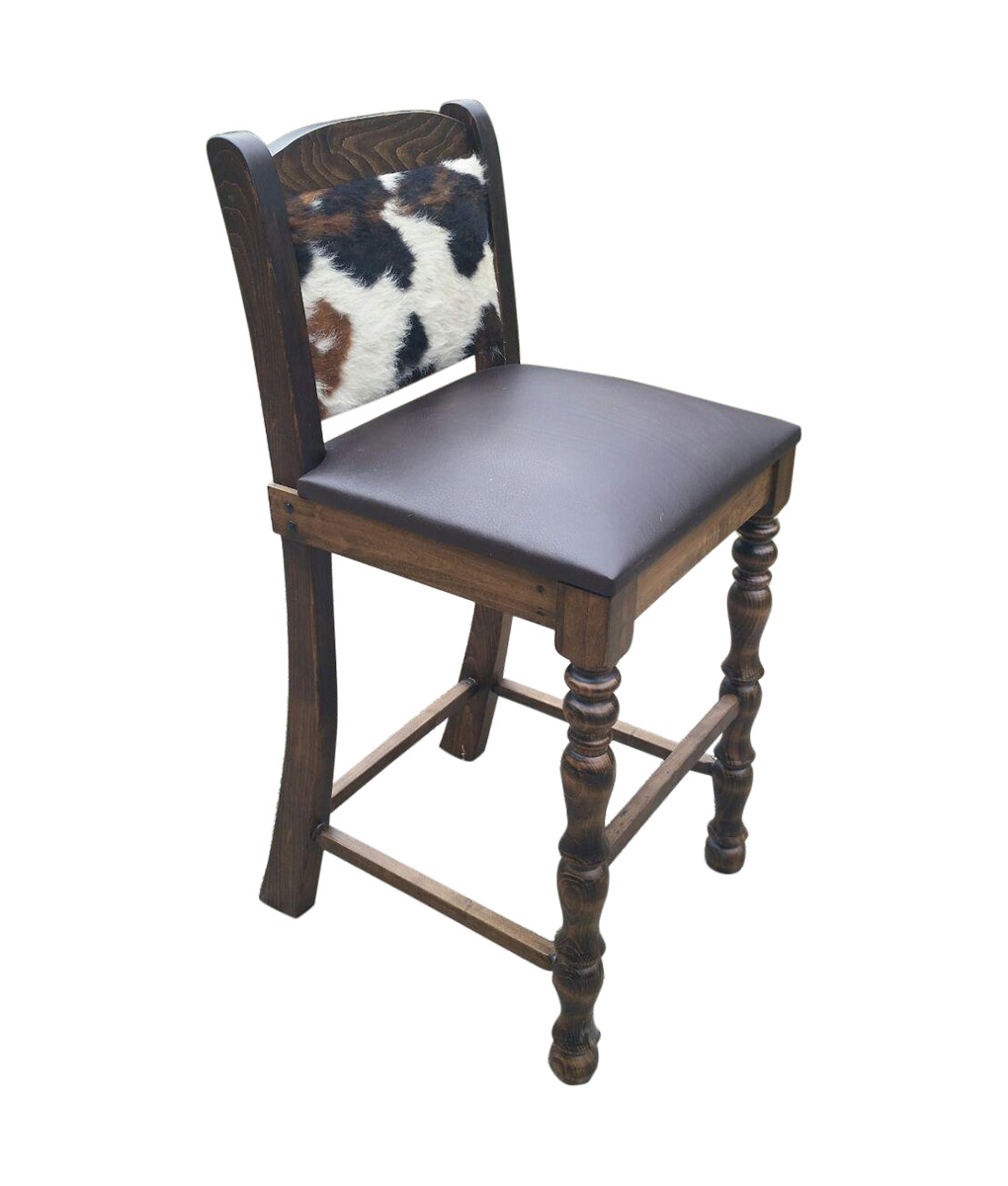 stool under chair bedroom costco cowhide bar counter dining and leather