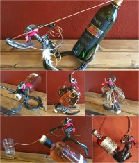 Wine Bottle Holder Horse Shoe Cowboy 6 Styles Available