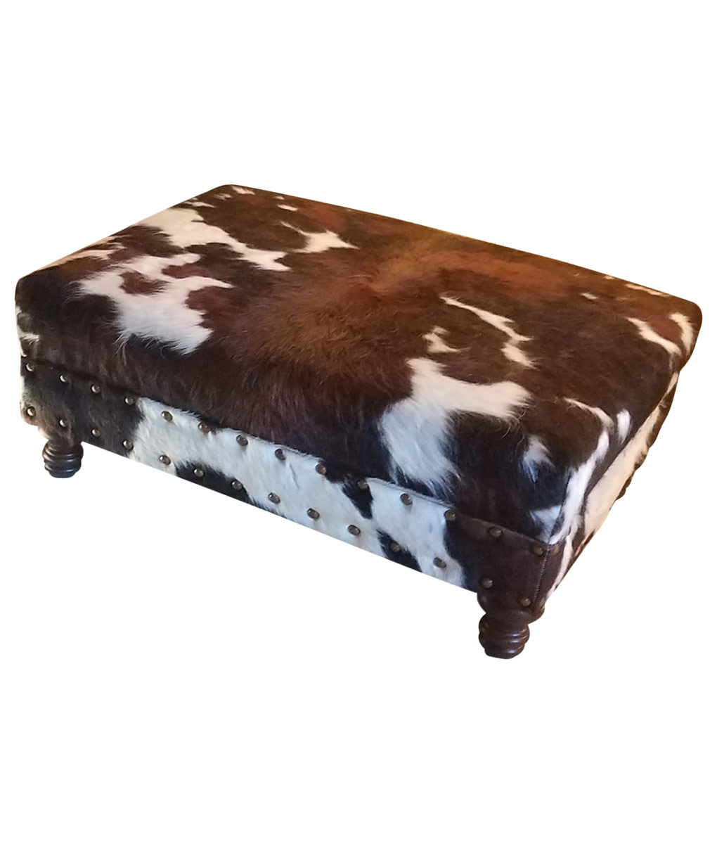 cowhide ottoman coffee table