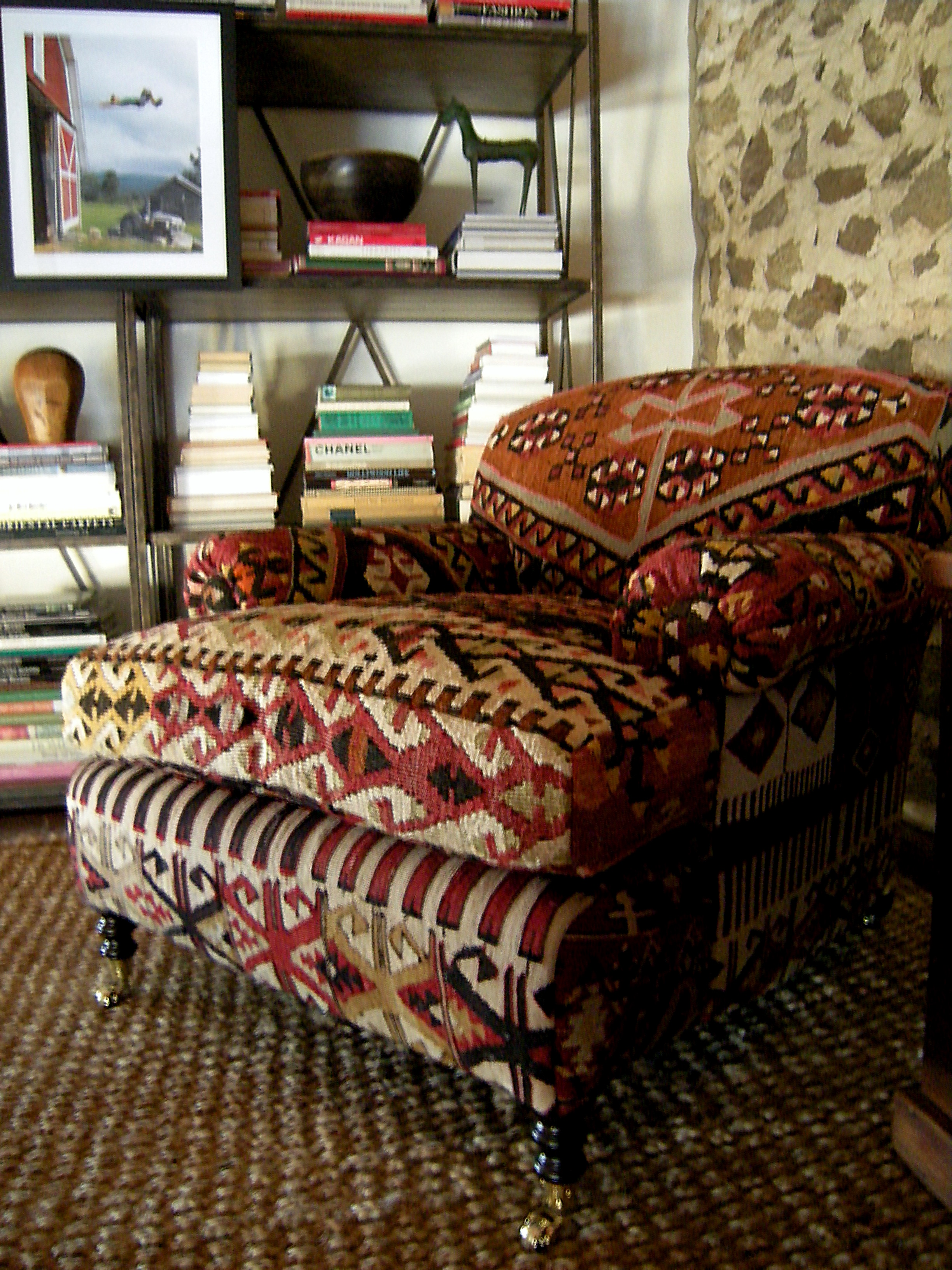 sofa upholstery fabric ideas cream and gold cushions the rustic chic kilim
