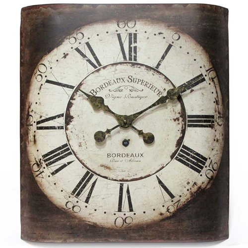 Infinity Instruments Bordeaux 19-Inch Metal Wall Clock