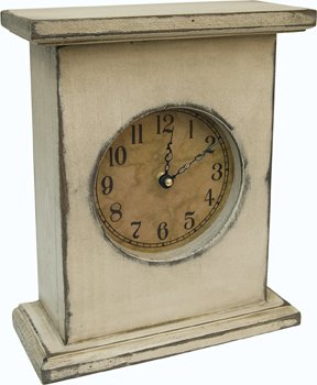 Primitive Wood Country Rustic Mantel Clock