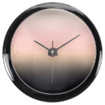 Pretty Rusted Black to Pink Gradient Ombre Fish Tank Clock