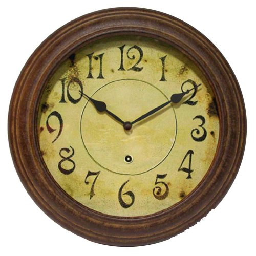 Intinity Instruments 12709RS-1905 The Heaven Wall Clock, 13.25″ Diameter, Antiqued Dial