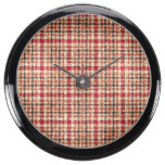 Glitter Earthtone Tartan Plaid Aquavista Clocks