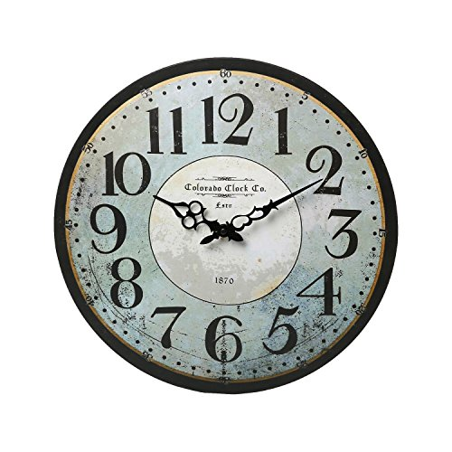 Ashton Sutton Classic Colorado 16″ Wall Clock, Clock Home Decor