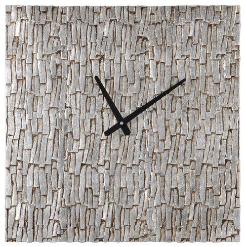 Ren-Wil CL191 Silver Bark Clock