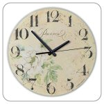 12 Inch Silent Rustic Home Decor Wall Clock Waterproof Clock Dial Quartz Vintage Watch the Wall