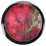 Red Gladiolas Aquavista Clock