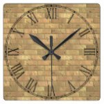 Beautiful Rustic Brick wall Texture Square Wall Clocks