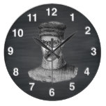 Black Chalkboard Steampunk Goggles Man Wall Clocks