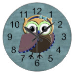 Custom Rustic Owl Birthday Party Wallclock