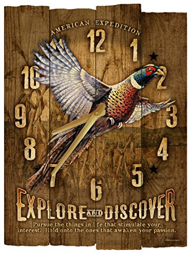 American Expedition Pheasant Wooden Wall Clock