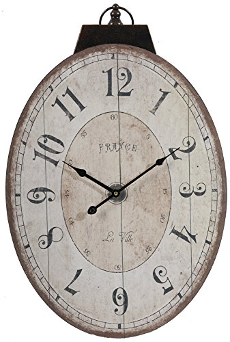 A&B Home Lu Ville Wall Clock, 17.7 X 29-Inch