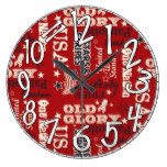 USA, Patriotic, Red, White and Blue, Old Glory Wallclocks
