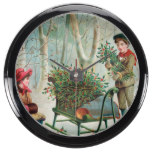 vintage,victorian,rustic,christmas,pattern,girl an fish tank clocks