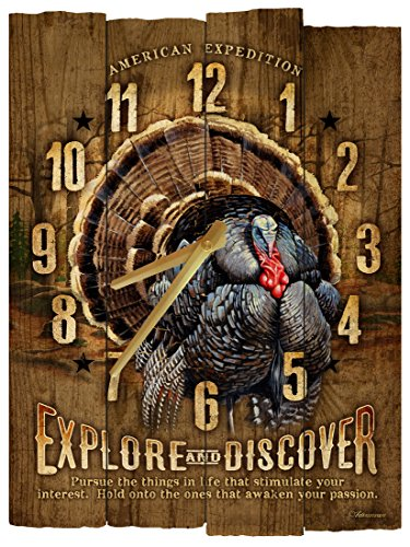 American Expedition Wild Turkey Wooden Wall Clock