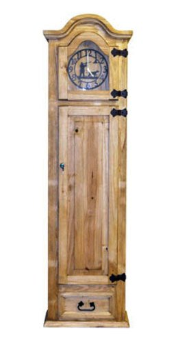 Grandfather Clock with Hidden Lockable Gun Cabinet Safe