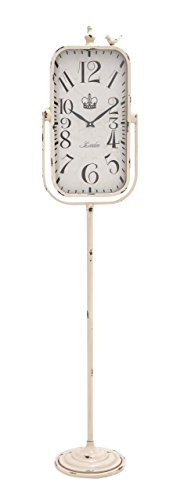 Benzara The Rustic Metal Floor Clock