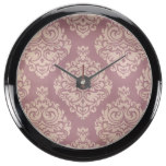 rustic,maroon,coral pink,damasks,victorian,chic,el fish tank clocks