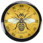Honeybee Honeycomb Bee Pretty Personalized Fish Tank Clock