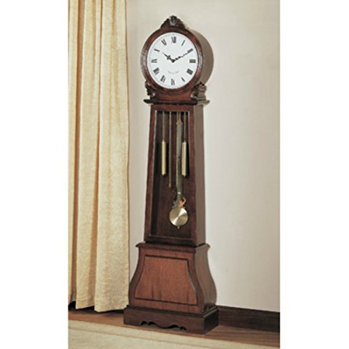Traditional Grandfather Vintage Clock – Add an Antiquated Touch to the Decor of Your Living Area – Features a Beautiful Rustic Style – Satisfaction Guaranteed!