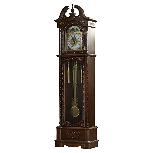 81.5″ Grandfather Clock- Designed with Traditional and Rustic Accents, the Clock Is a Regal Piece of Furnishing. An Exquisite Timepiece, This Clock Add a Dash of Sophistication in Your Home. -pack of two*