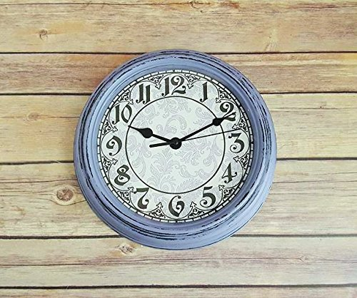 Violet Wall Clock Vintage Rustic Farmhouse Up Cycled Eco Friendly