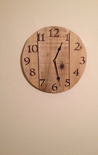 Rustic Bare Pallet Wood Wall Clock, reclaimed pallet wood, mother's day gift, repurposed wood, woodworking, beach clock, country home decor