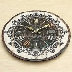 Europe Stylish Retro Tracery Vintage Rustic Shabby Chic Home Office Study Cafe Decoration Art Large Wall Clock