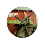 Harpers Mill Round Wall Clock